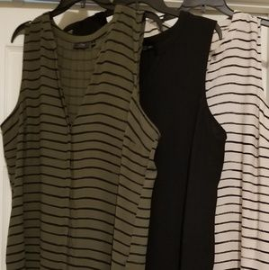 Three sleeveless blouses, Apt 9